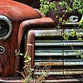 Vintage Rusty Dusty Gmc Graveyard Truck by Kathy Clark