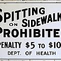 Vintage Sign For Spitter Haters by Bob Christopher