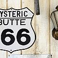 Vintage Sign Hysteric Butte 166 by Bob Christopher