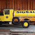 Vintage Signal Gasoline Truck . 7d12935 by Wingsdomain Art and Photography