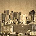 Vintage Style Boston Skyline 2 by Marjorie Imbeau