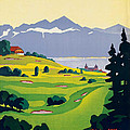 Vintage Switzerland Travel Poster by George Pedro
