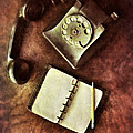 Vintage Telephone And Notebook. by Jill Battaglia