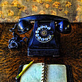 Vintage Telephone And Notepad by Jill Battaglia