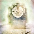 Vintage Train Engine by Jill Battaglia