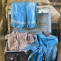 Vintage Trunk With Ladies Clothing by Jill Battaglia