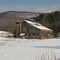 Vintage Weathered Wooden Barn by John Stephens