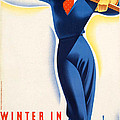 Vintage Winter In Austria Travel Poster by George Pedro
