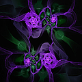 Violet Floral Edgy Abstract by Andee Design