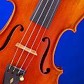 Violin Isolated On Blue by M K  Miller