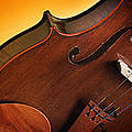 Violin Isolated On Gold by M K  Miller