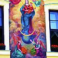 Virgin Mary Mural by Mariola Bitner