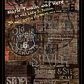 Virginia City Nevada Grunge Poster by John Stephens