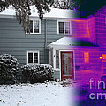 Visible And Infrared Image Of A House by Ted Kinsman