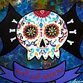 Viva Los Muertos Bat by Pristine Cartera Turkus
