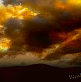 Vivachas Golden Hour Sunset Glowing Clouds  by Chas Sinklier