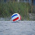 Volleyball On The Beach by Carrie Munoz