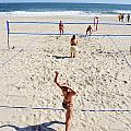 Volleyball On The Beach  by Dennis Clark
