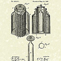 Voltaic Battery 1887 Patent Art by Prior Art Design