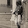 Voodoo Man In Jackson Square New Orleans- Sepia by Kathleen K Parker