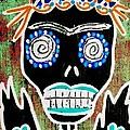 Voodoo Queen Sugar Skull Angel by Sandra Silberzweig
