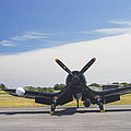 Vought F4u Corsair Fighter Plane On Runway Canvas Photo Poster Print by Keith Webber Jr