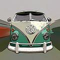 Vw Bus Art by Steve McKinzie