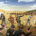 Wagon Box Fight, 1867 by Granger