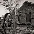 Wagon Wheel At The Ranch by Sherry Davis