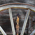 Wagon Wheel Detail by Bob Christopher