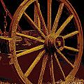Wagon Wheel In Sepia by Rich Walter