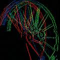 Wagon Wheels In Wheels by Rich Walter