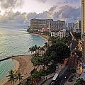 Waikiki At Twilight by Tomas del Amo