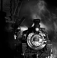 Waiting For More Coal Black And White by Ken Smith