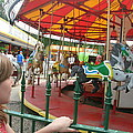 Waiting To Ride Carousel by Amelia Painter