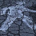 Walking Man In Cyan by Rob Hans