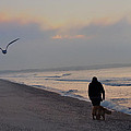 Walking On The Beach - Cape May by Bill Cannon