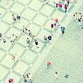 Walking People by Carlo A