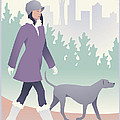 Walking The Dog In Seattle by Mitch Frey