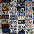 Wall Of License Plates by Andrew Fare