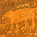 Wall Street Cliffs Petroglyph - Moab by Gary Whitton