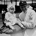 Walter Johnson Holding A Baby - C 1924 by International  Images