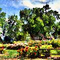 War Memorial Rose Garden  4 by Angelina Vick