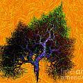 Was A Crooked Tree  Grunge Art by Richard Ortolano