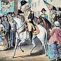 Washington Enters New York City After by Photo Researchers