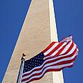Washington Monument Flag by Brian Jannsen
