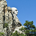 Washinton On Mt Rushmore by Jon Berghoff