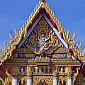 Wat Chai Mongkol Ubosot Gable Dthu609 by Gerry Gantt