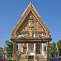 Wat Kan Luang Ubosot Gate Dthu181 by Gerry Gantt