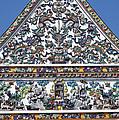 Wat Ratcha Orasaram Ubosot Gable Detail Dthb428 by Gerry Gantt